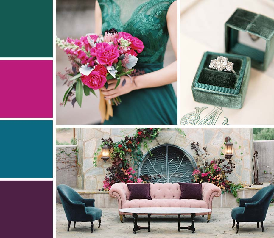 Jewel Tones wedding palette inspiration