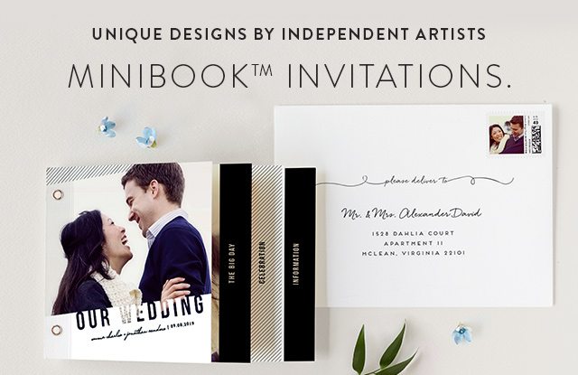 Wedding Invitation Minibook Cards