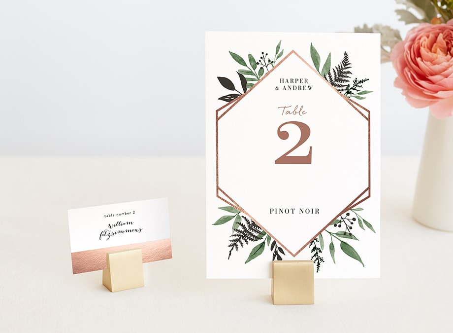 Place Card & Table Number Holders