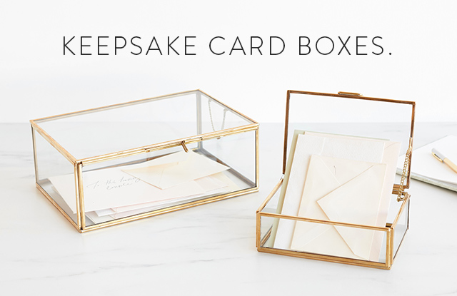 Keepsake Card Boxes