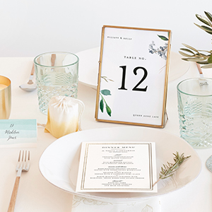table display with table number