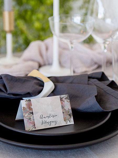 escort card with napkin