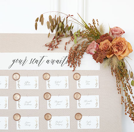 HOW TO CREATE UNIQUE ESCORT CARD DISPLAYS