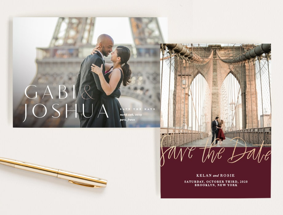 save the date cards with landmarks