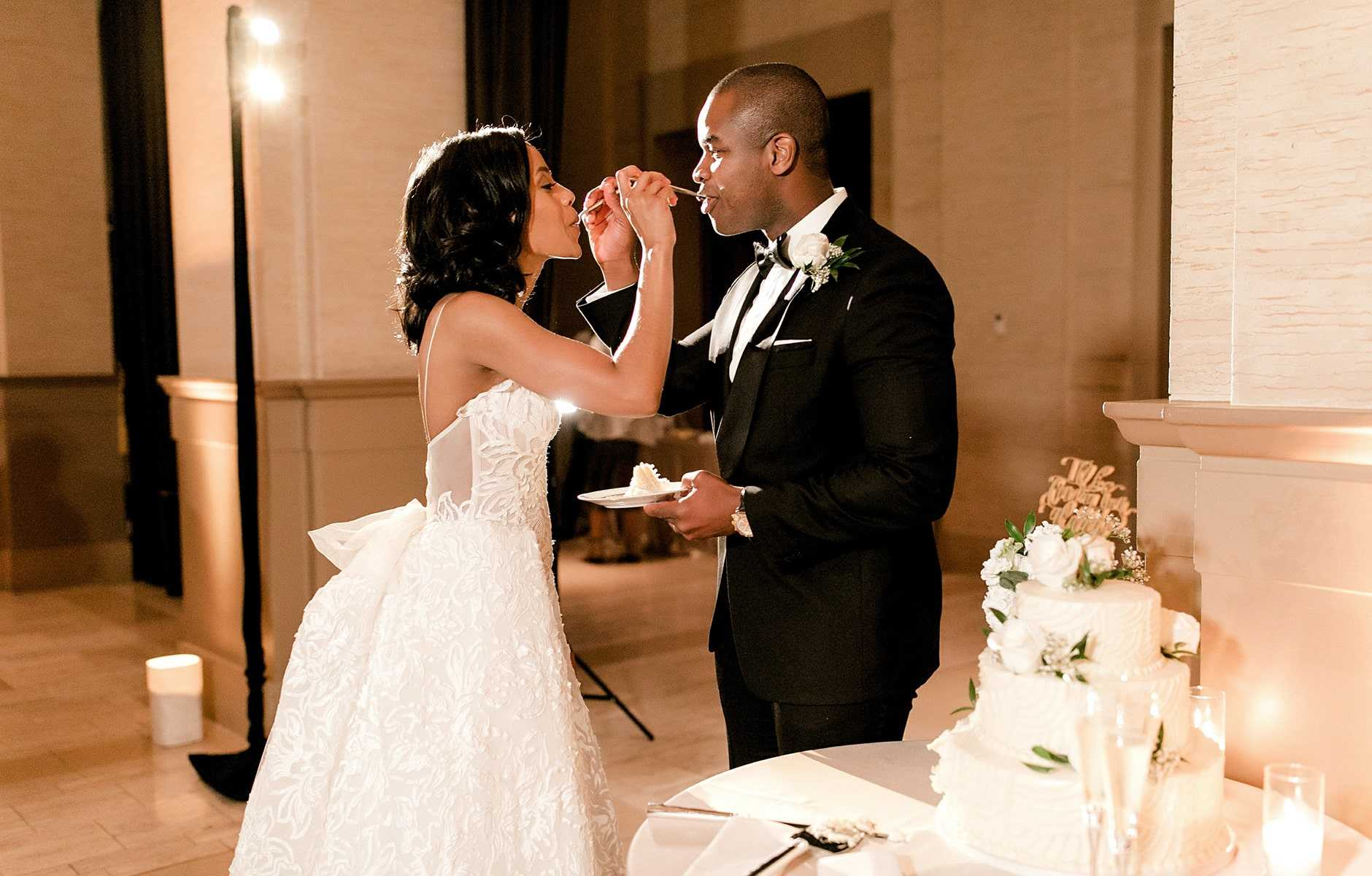 bride and groom reciting vows