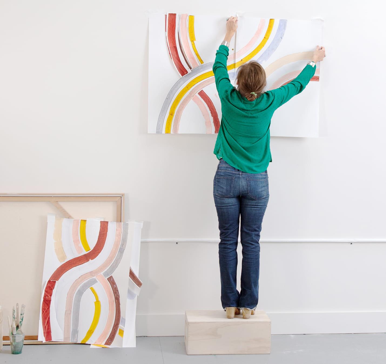 Lise Gulassa in her studio