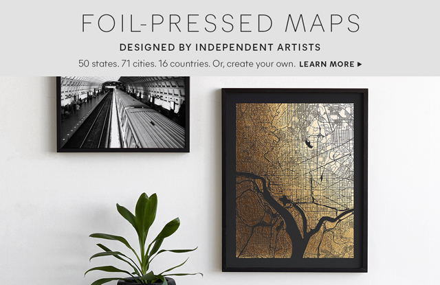 Foil Pressed Maps
