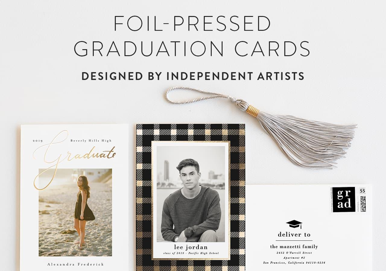 Foil Stamped Graduation Cards