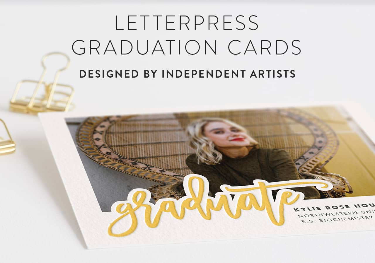 Letterpress Graduation Announcements