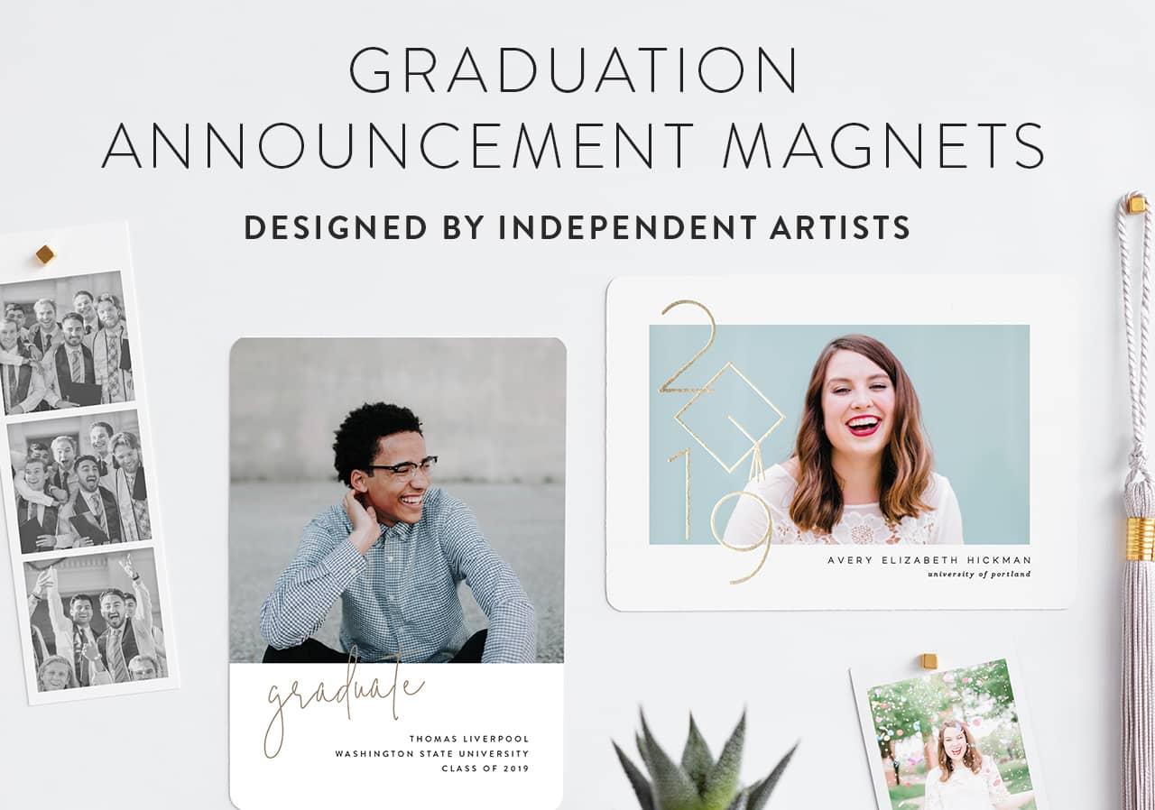 Graduation Announcement Magnets