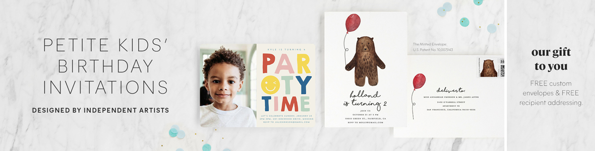 Petite Kids Birthday Invitations