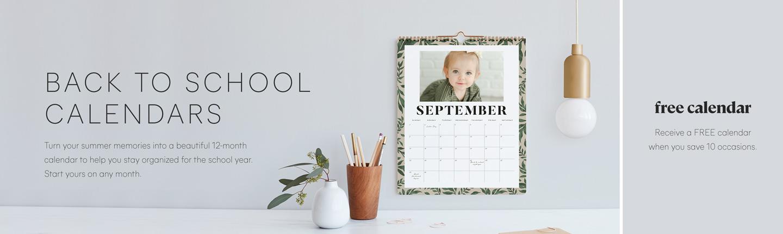 Back To School Calendars