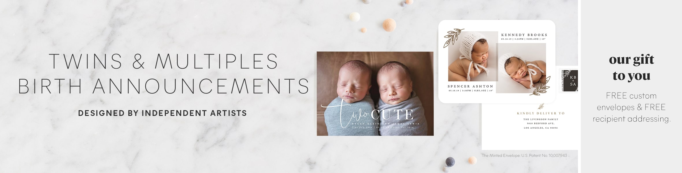 Twins & Multiples Birth Announcement