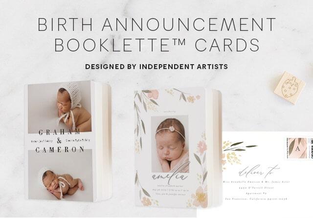 Birth Announcement Minibooks