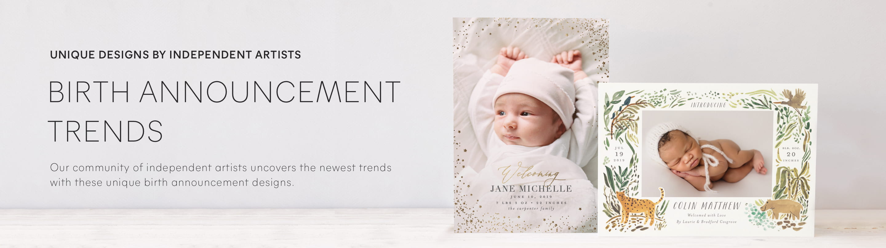 Birth announcements curated collections