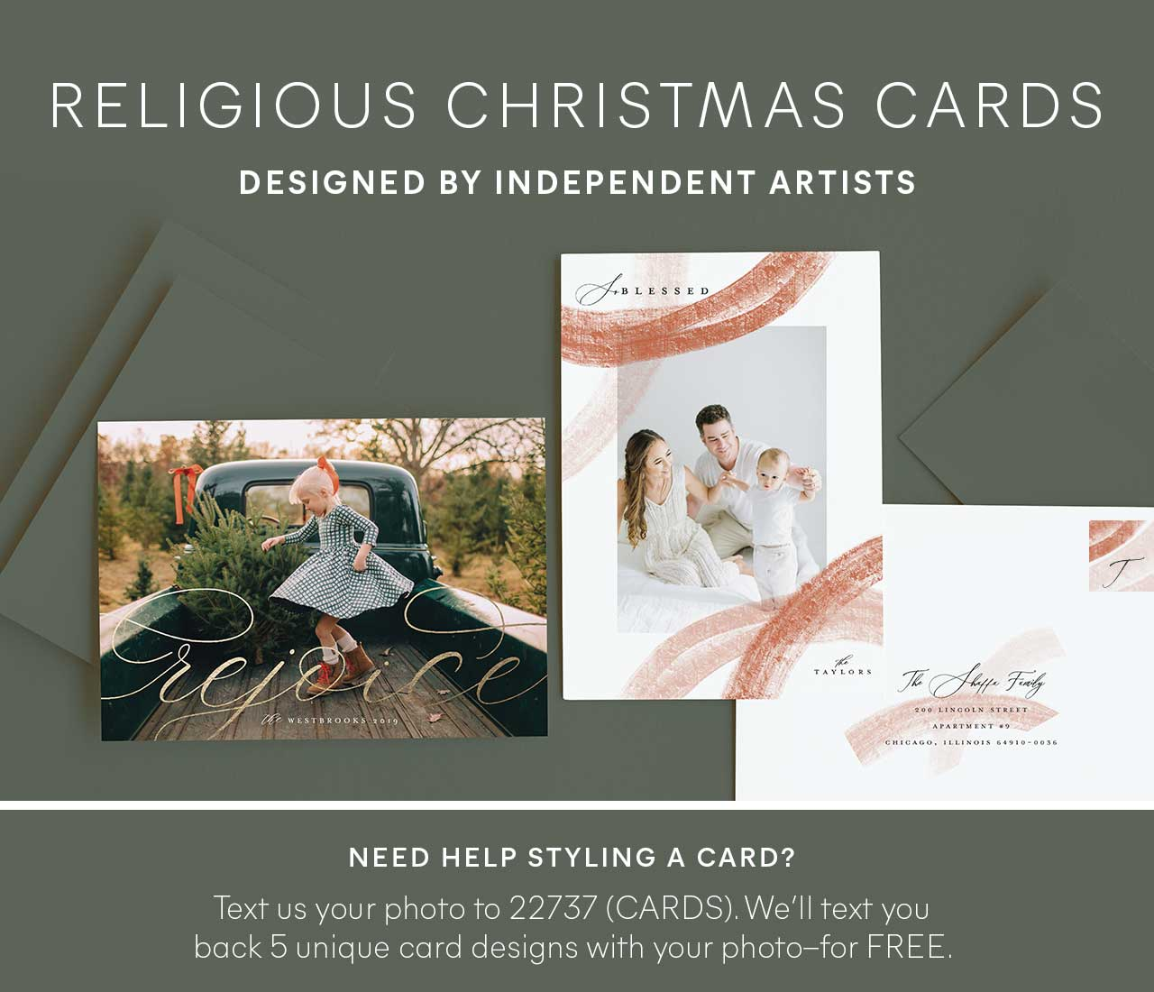 Religious Christmas Photo Cards