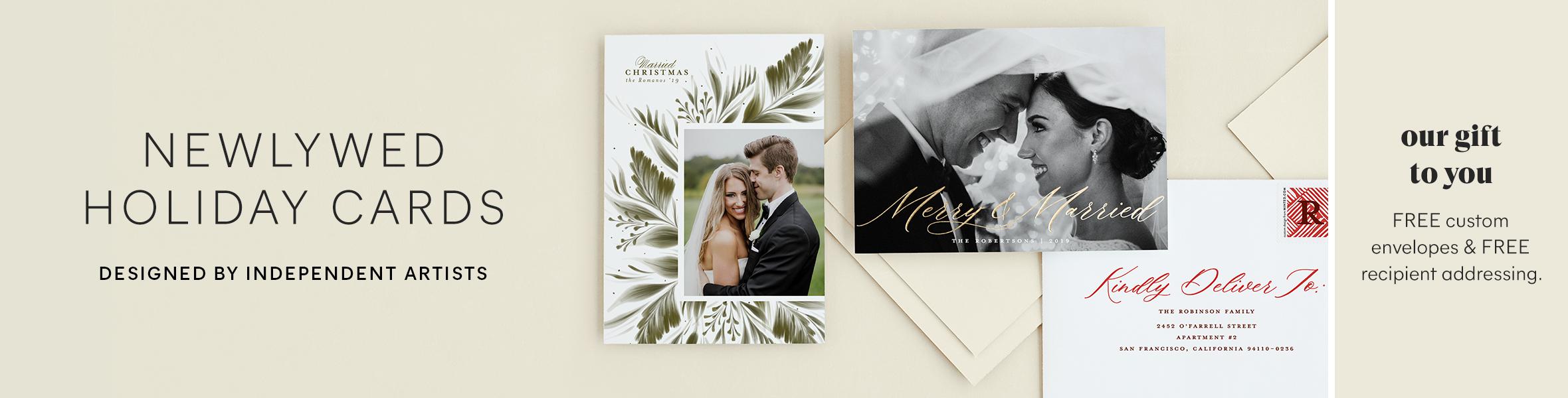 Wedding Holiday Cards
