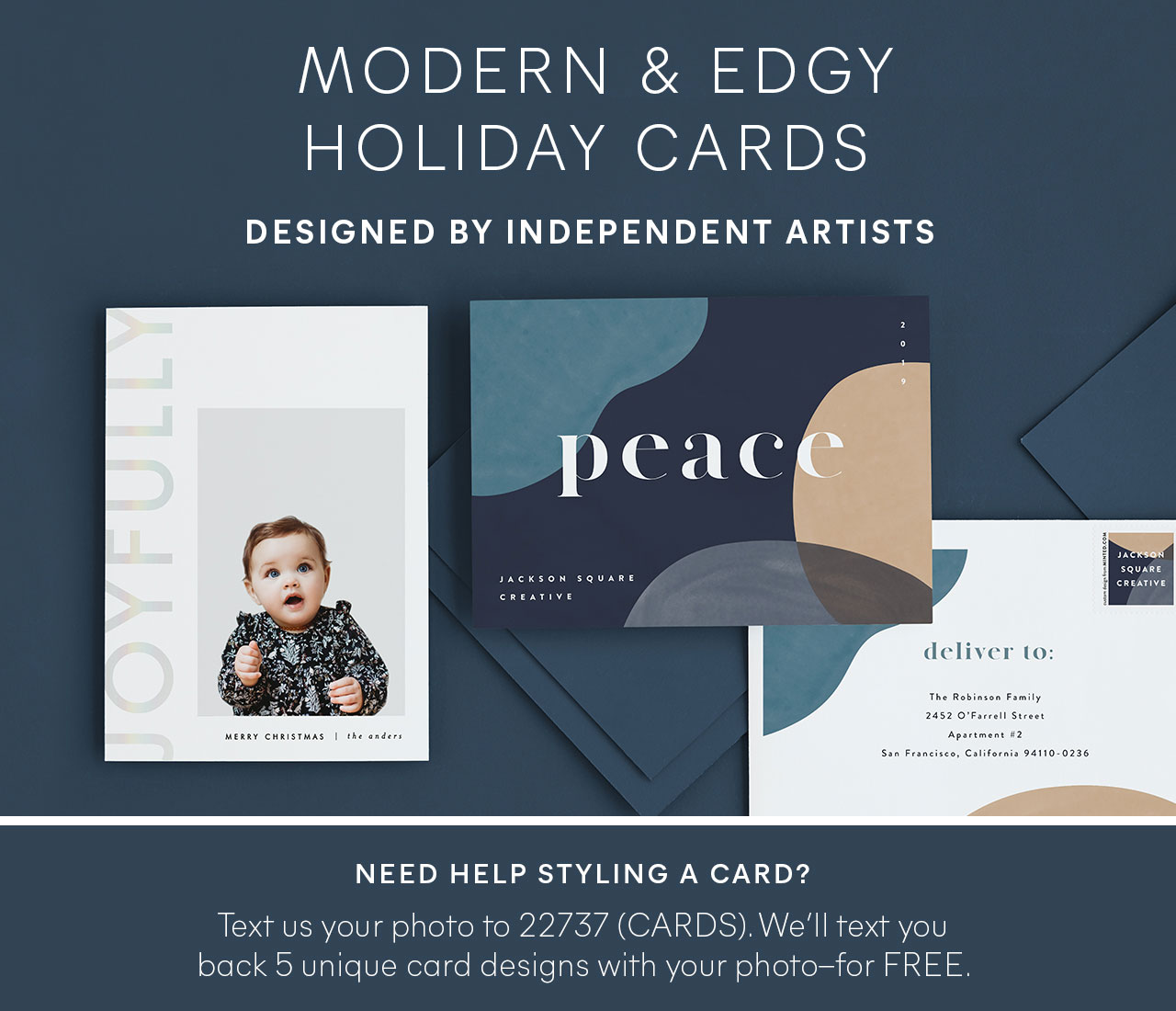 Contemporary Holiday Cards
