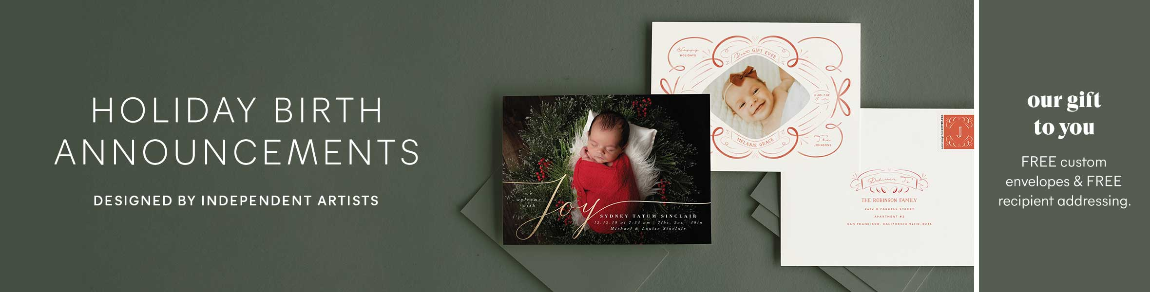Baby's First Holiday Photo Cards