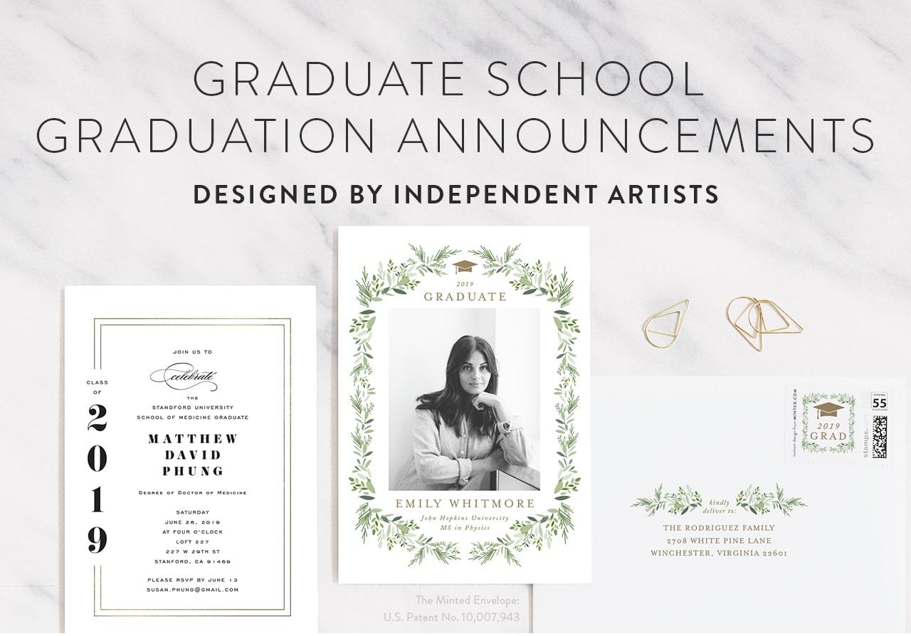Grad School Graduation Announcements