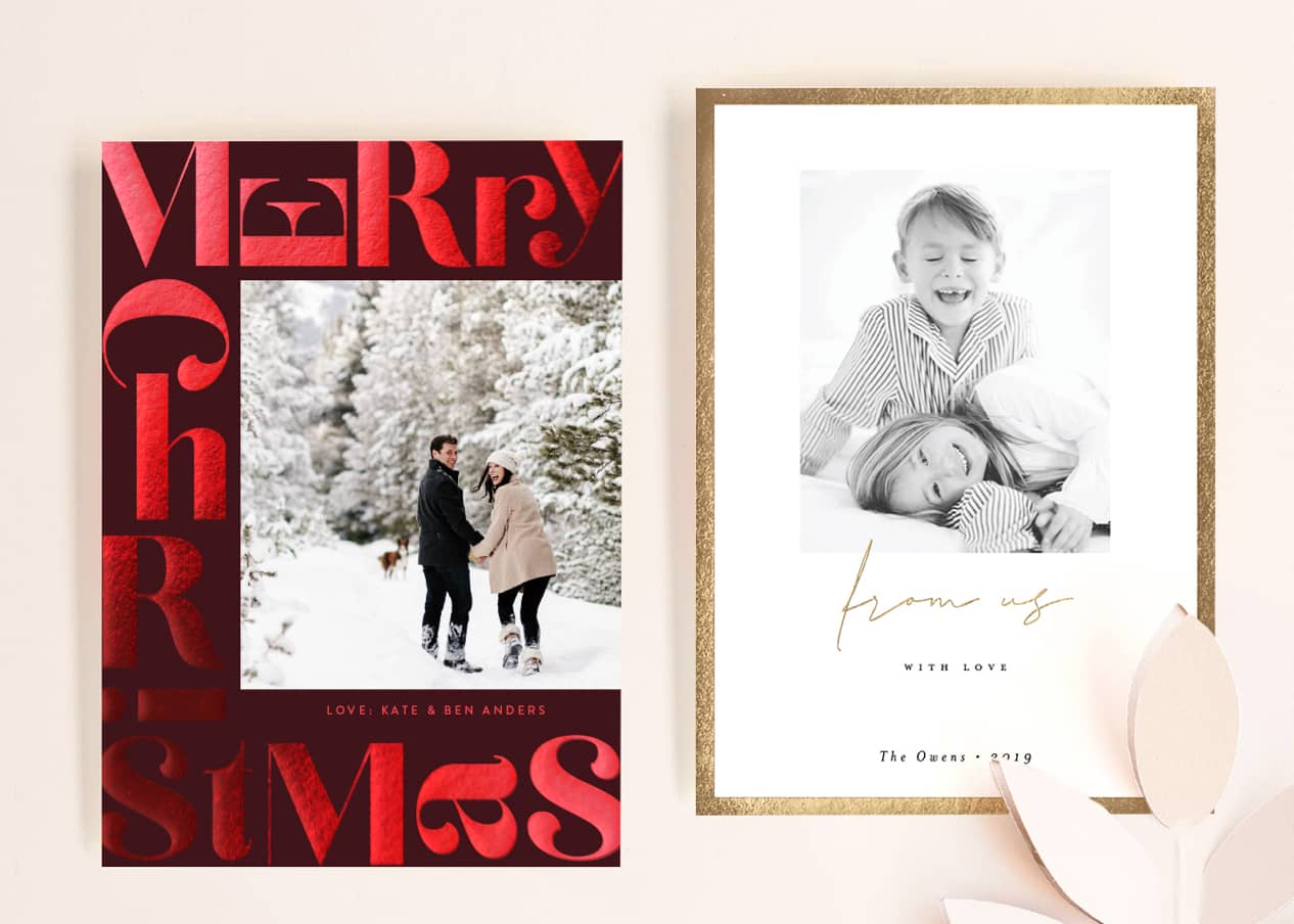 Foil Holiday Photo Cards