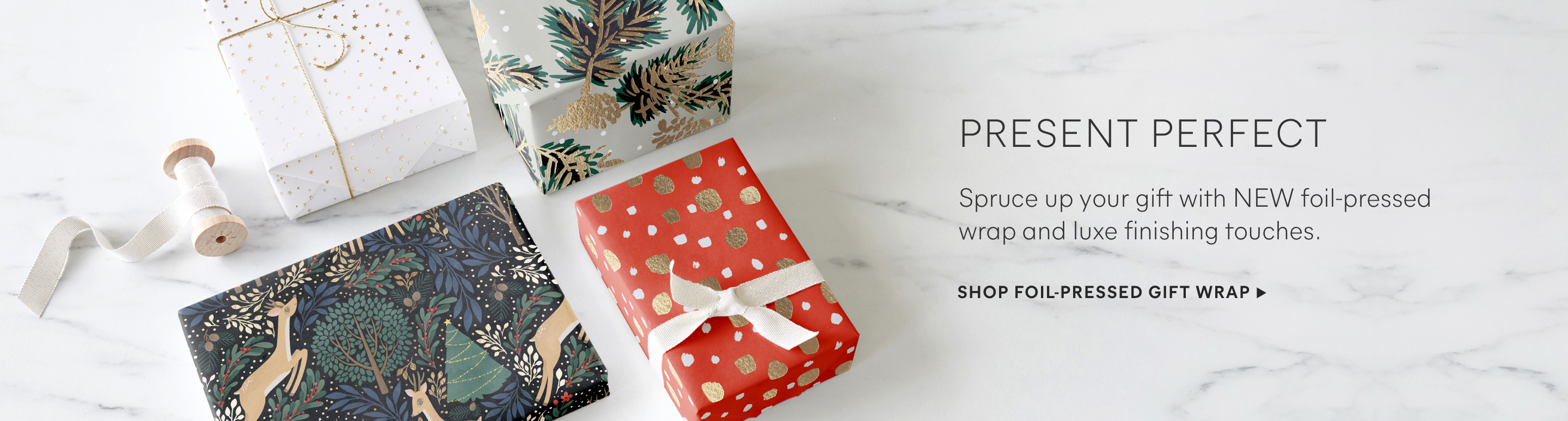 Foil-Pressed Gift Wrap