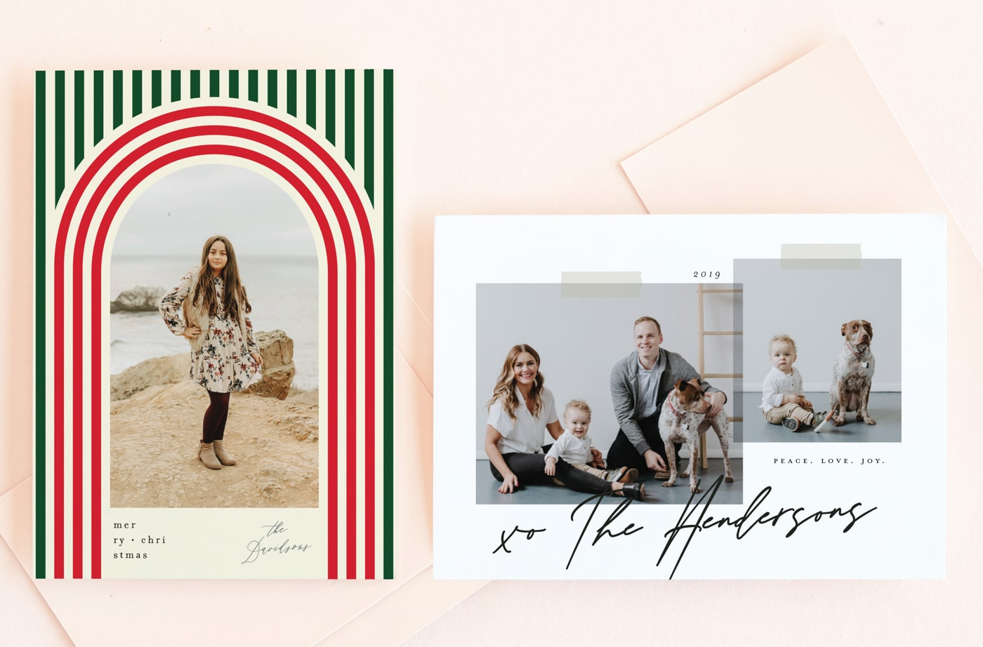 1970s Christmas holiday card trend
