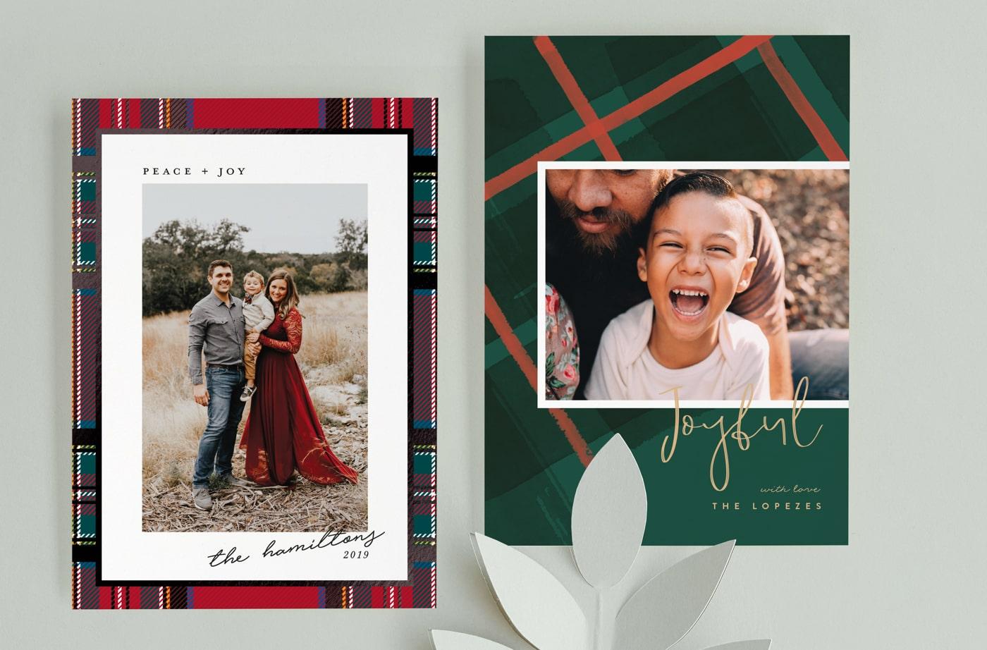 Fresh Plaid holiday card trend