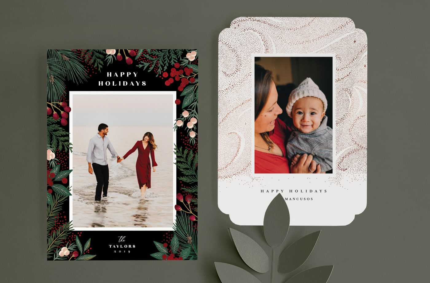 Maximalism holiday card trend