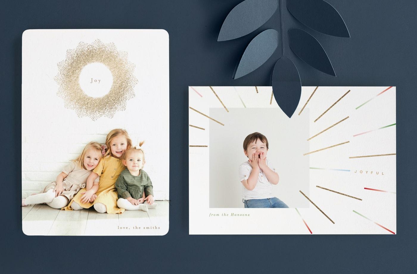Modern Sun holiday card trend
