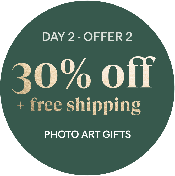 Day 2 - Offer 2: 30% off + free shipping - Photo Art Gifts