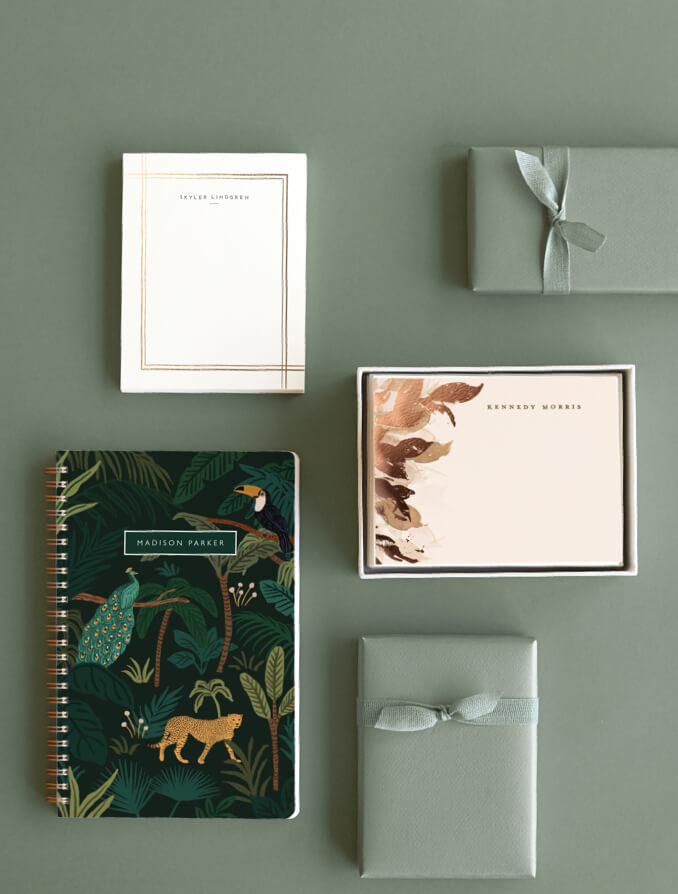 Personalized Stationery & Notebooks