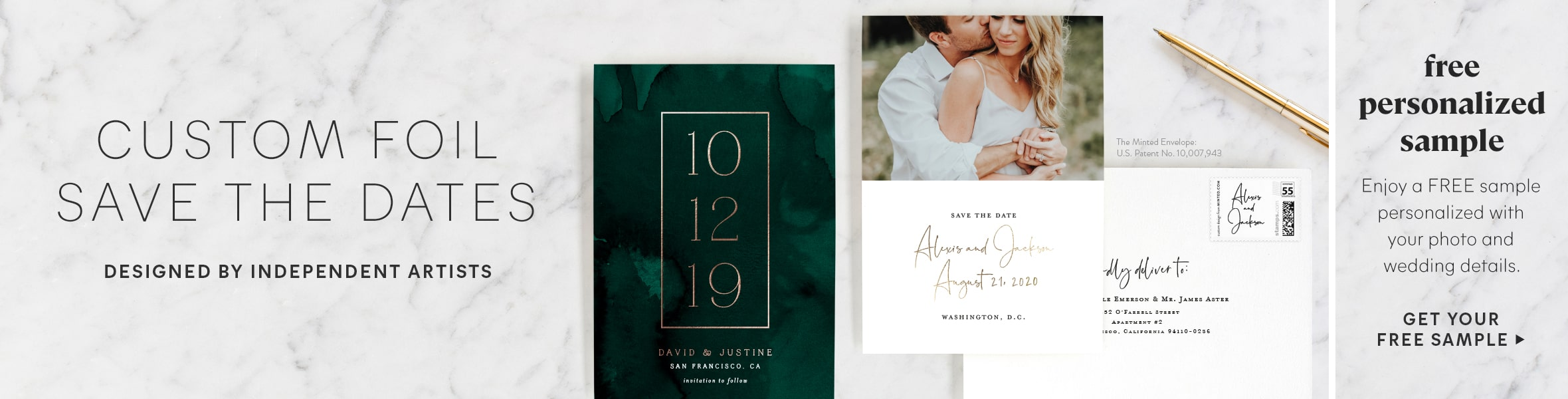 Custom Foil Save the Date Cards