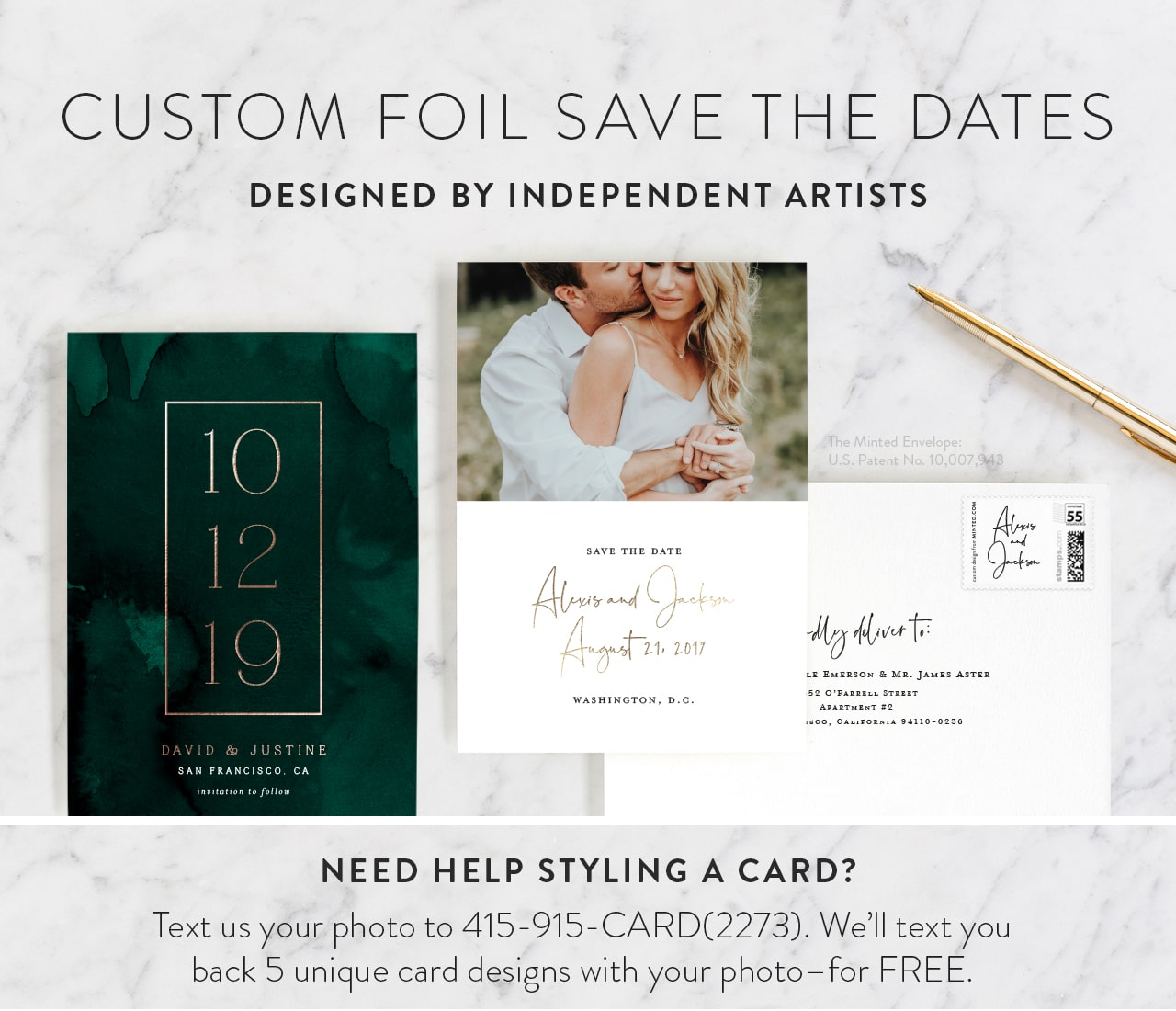 Foil Pressed Save the Date Cards