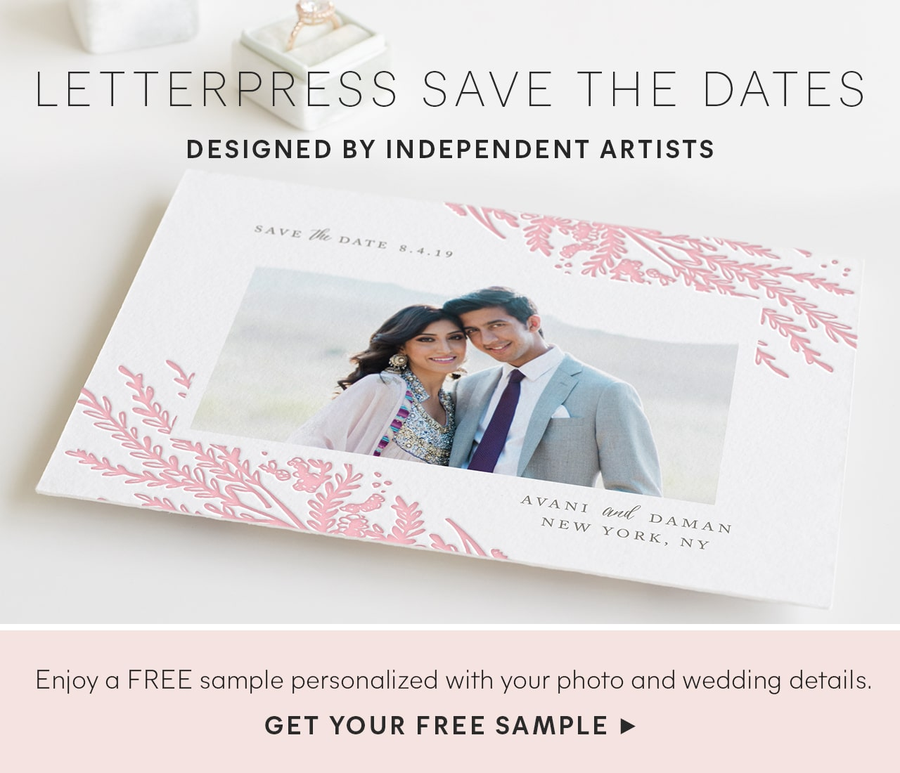 Letterpress Save the Dates