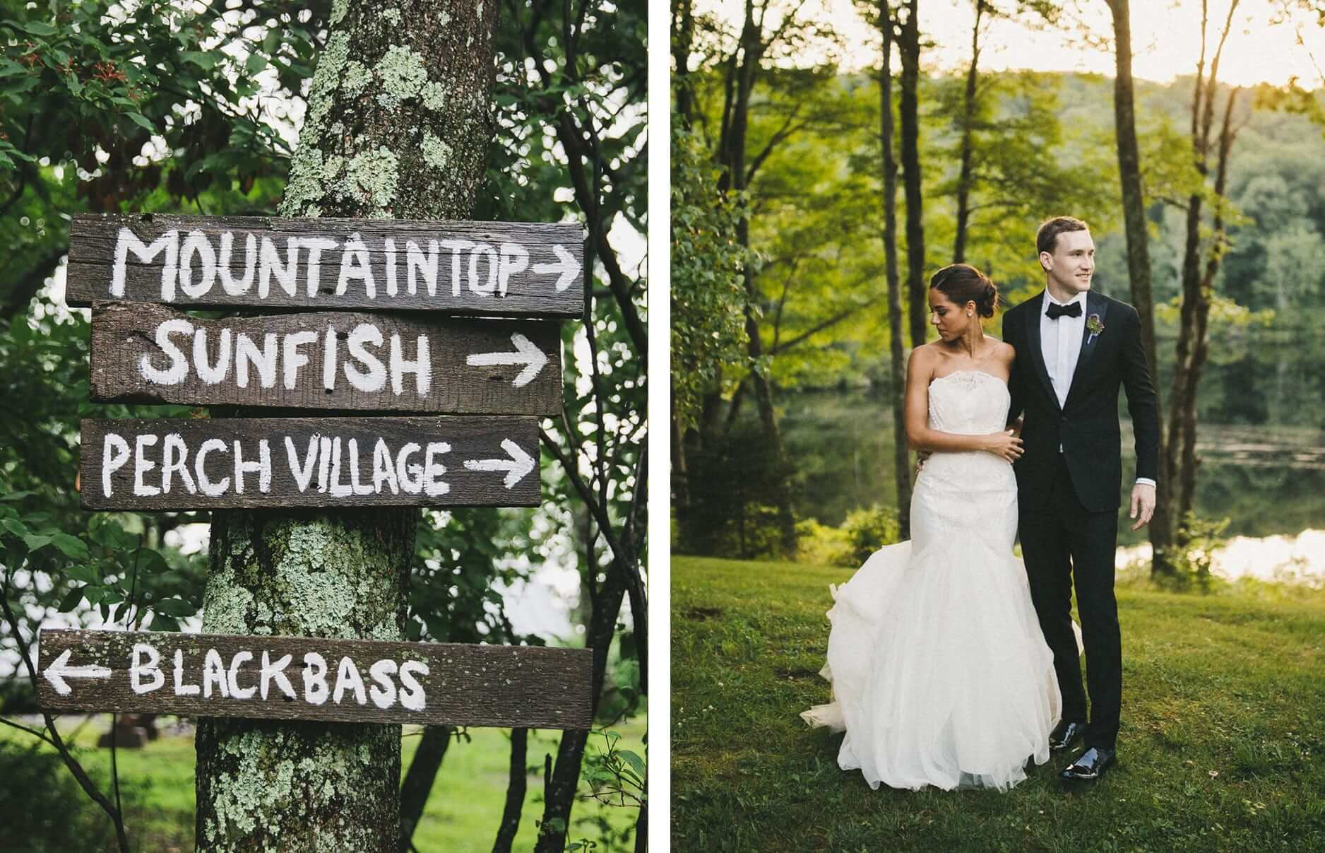Wedding Sign, Bride & Groom