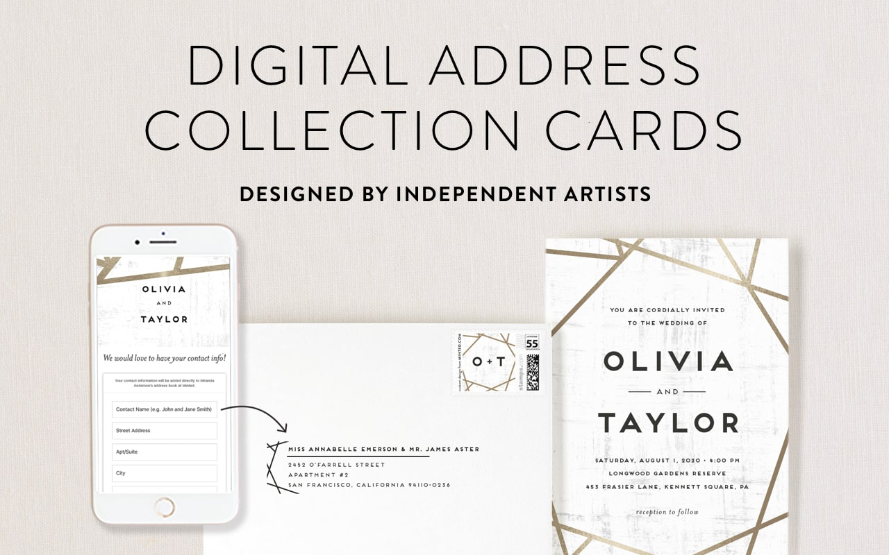Digital Address Collection Cards