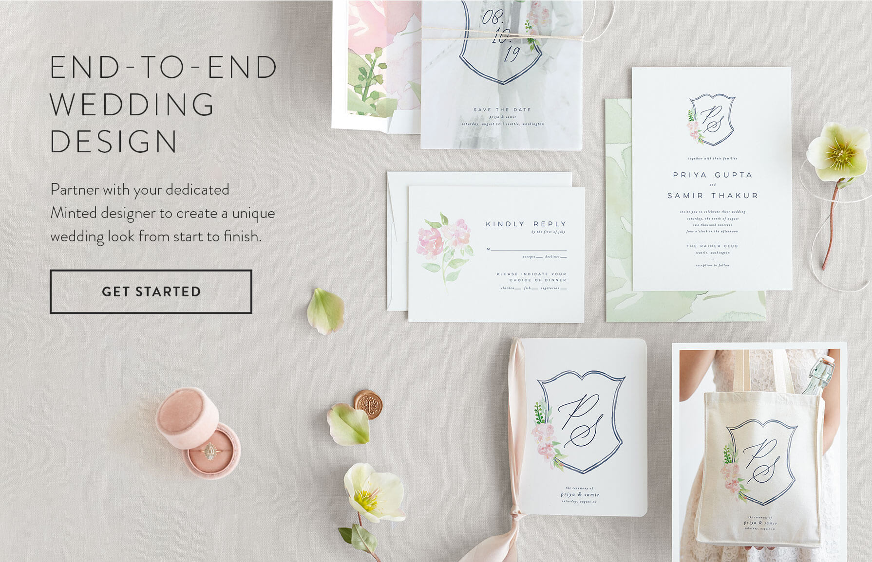 Get Started with End-to-end Wedding Design