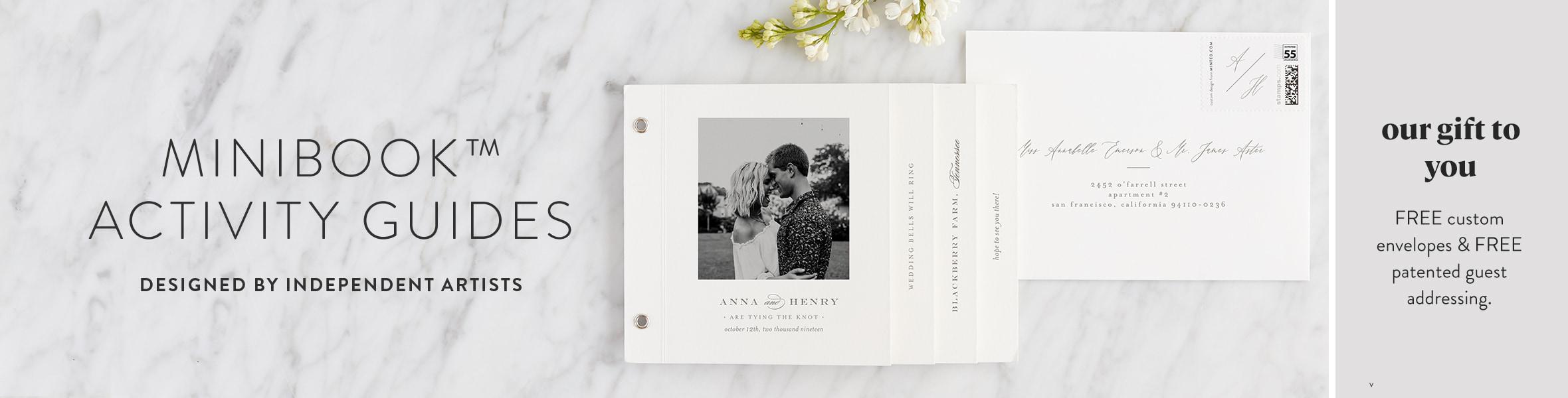Wedding Invitation Minibook Cards