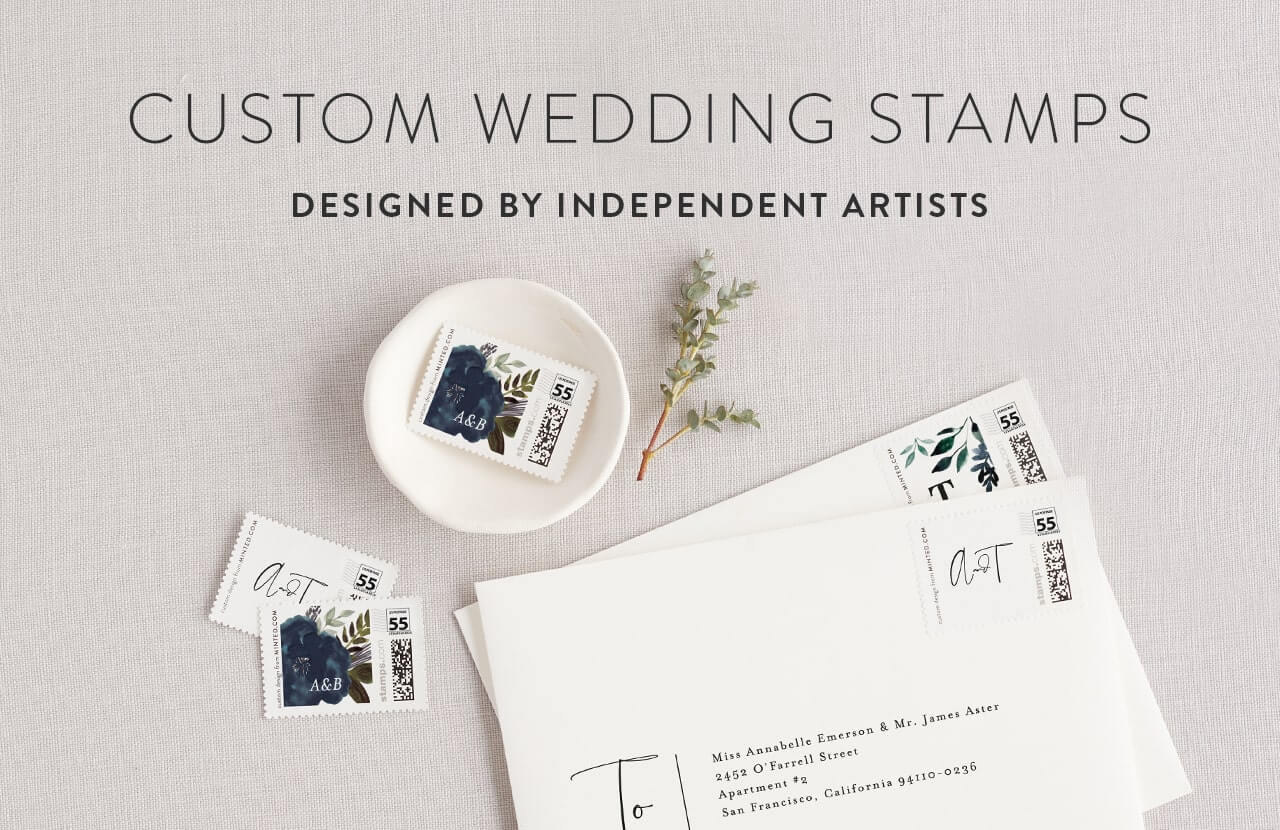Stamps For Wedding Invitations: Wedding Stamps
