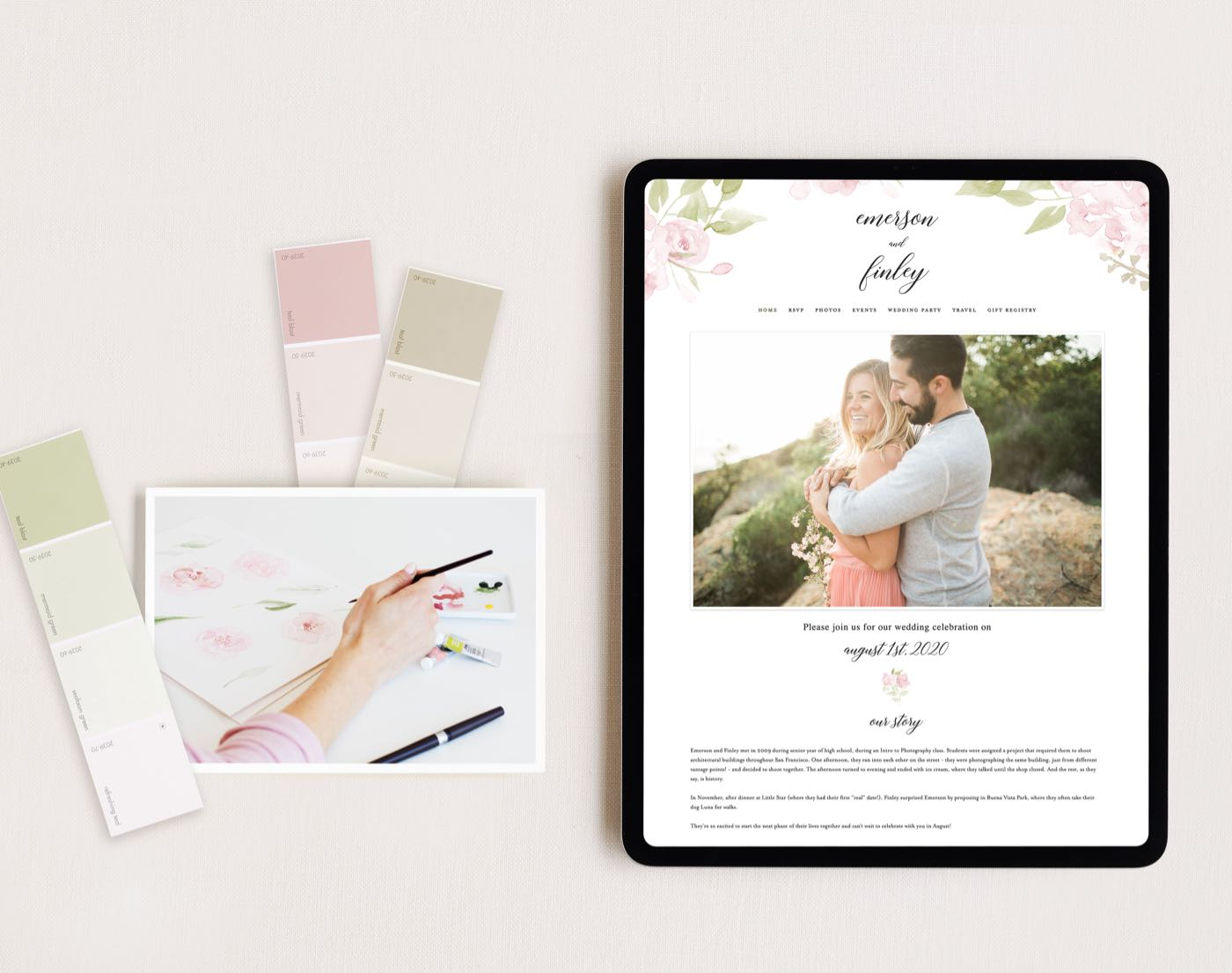 Completely Custom Wedding Websites