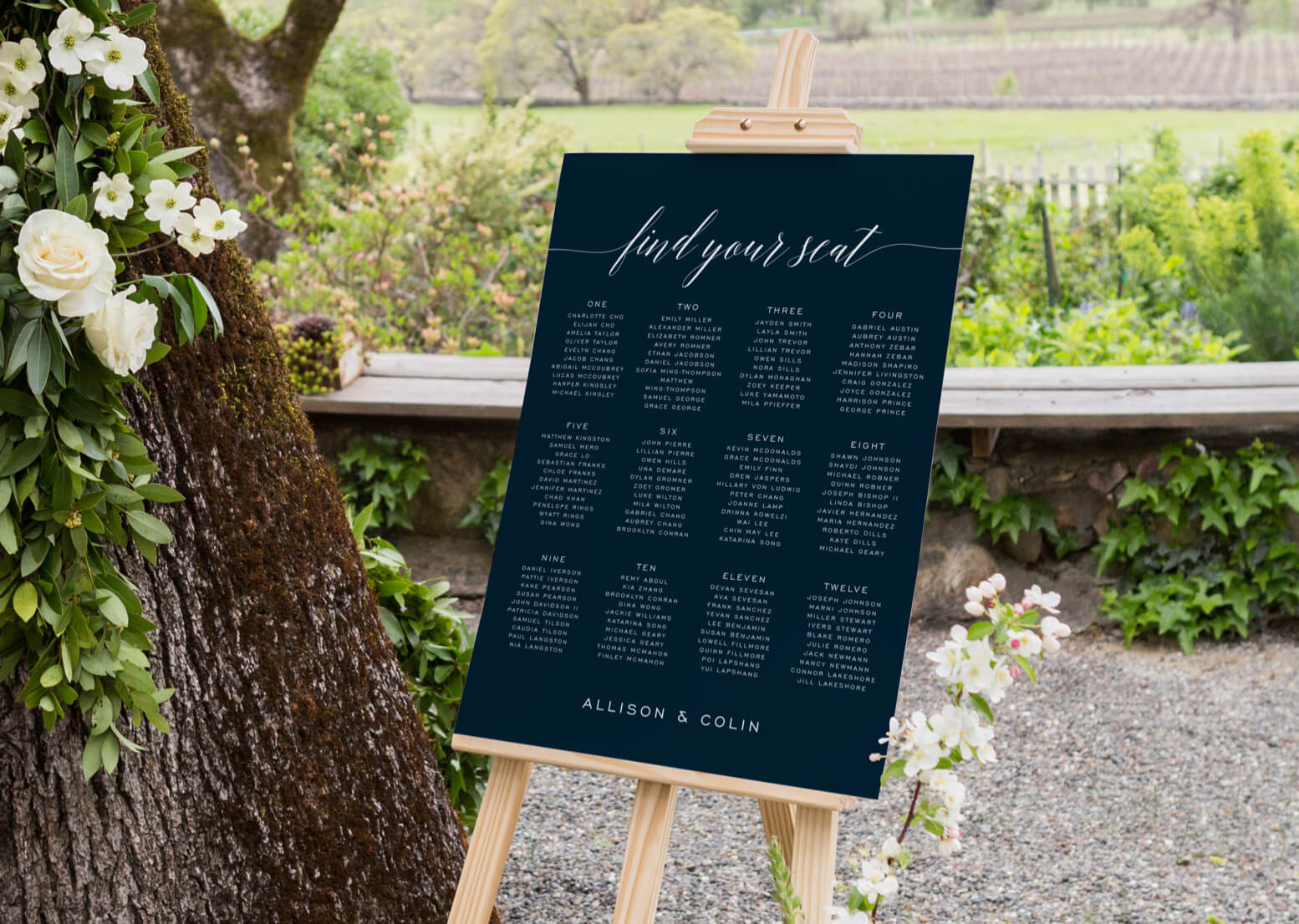 Someone Like You seating chart by Design Lotus