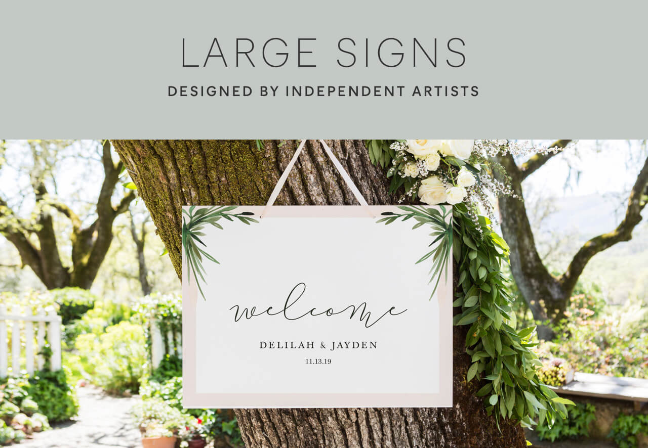 Large Wedding Signs