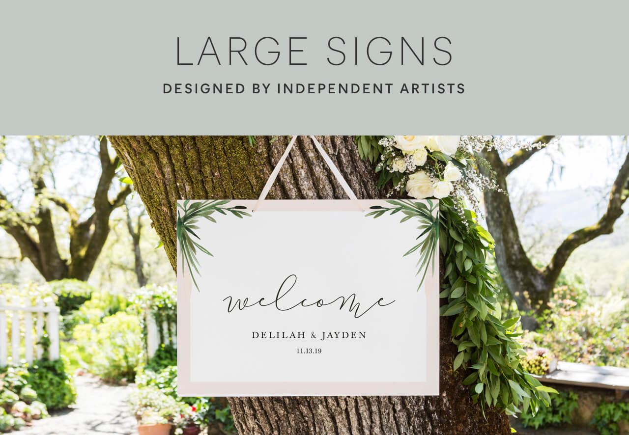 Large Wedding Signs