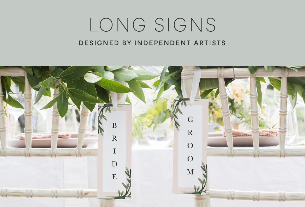 Long Wedding Signs