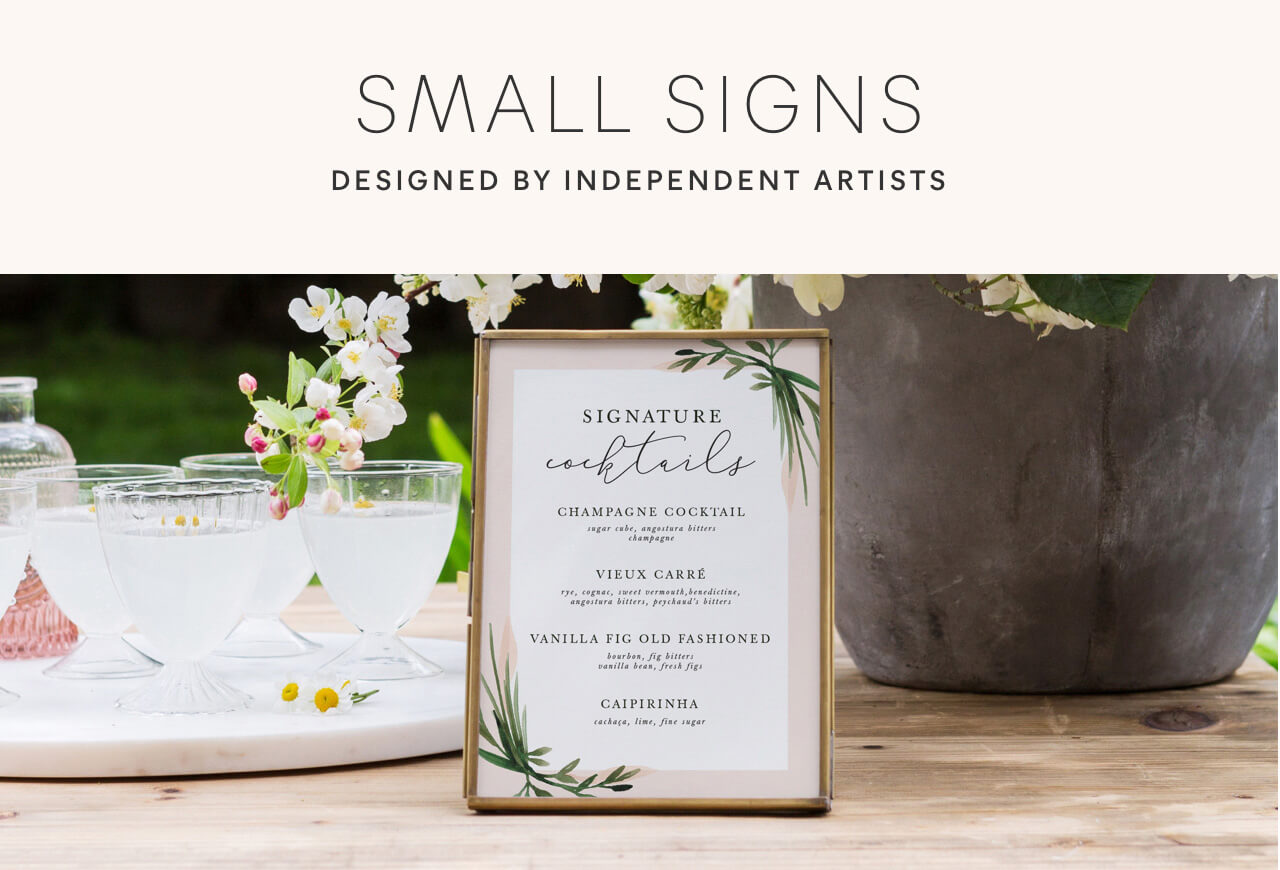 Small Wedding Signs