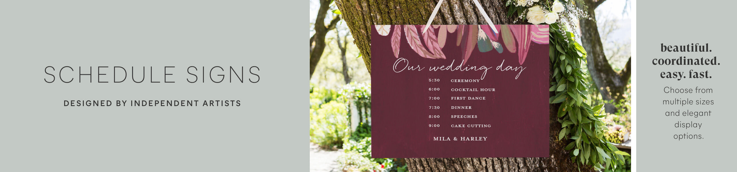 Wedding Schedule Signs