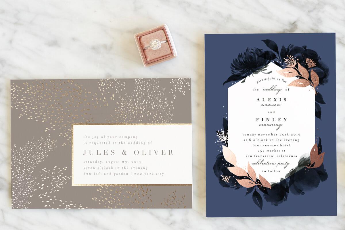 Gloss-Press Wedding Invitations