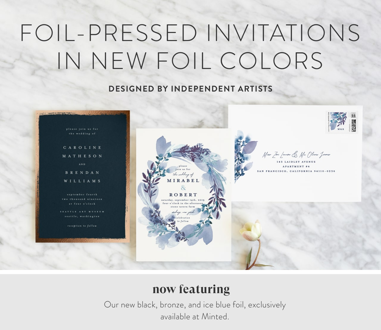 New Foil-Pressed Invitations (Foil Colors)
