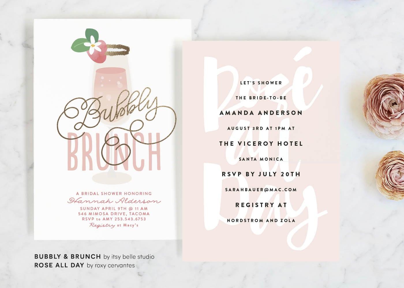 Bridal Shower Invitations - Brunch Ideas